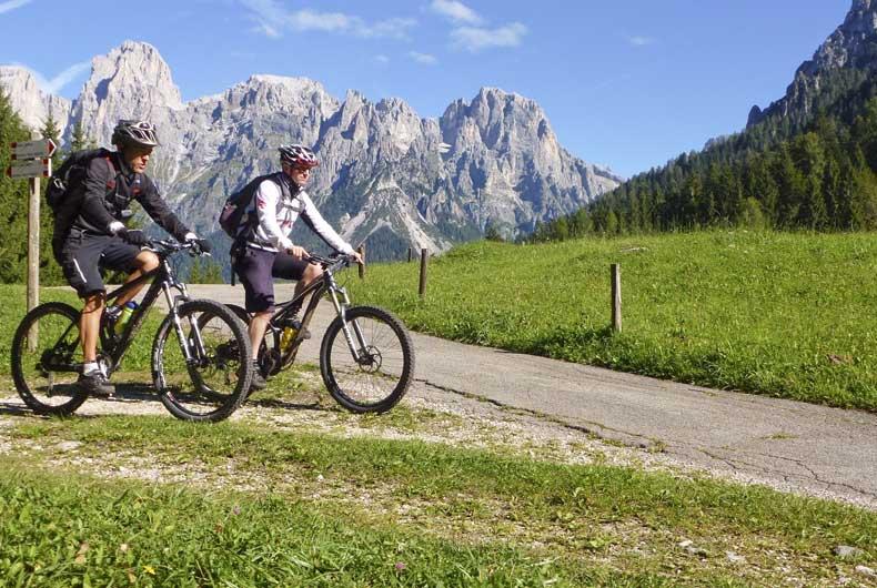 Escursioni in bici a San Martino di Castrozza